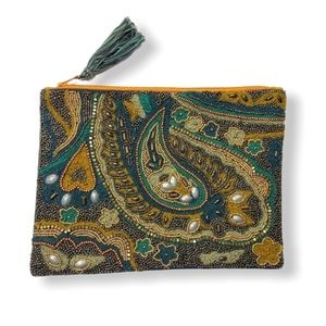 Beaded Pouch Clutch India Boho Gorgeous